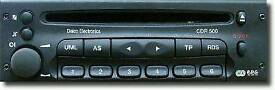Vauxhall CDR500 cd/radio
