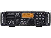 ICOM IC-7200 HF transceiver with optional front handles, boxed as new condition.