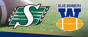2 sets or 4 tickets / bombers/riders July 1 and Labour Day game