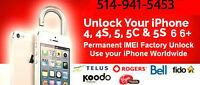 iphone ROGER/FIDO, BELL Unlocking ANY COUNTRY,ANY 4,4s,5,5s,5c