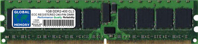 1GB DDR2 400MHz PC2-3200 240-PIN ECC REGISTERED RDIMM SERVER/WORKSTATION RAM 1R ()