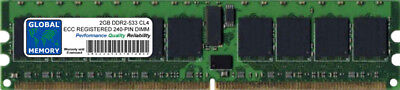 (2GB DDR2 533MHz PC2-4200 240-PIN ECC REGISTERED RDIMM SERVER/WORKSTATION RAM)