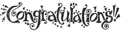 Unmounted Rubber Stamps, Bold Congratulations, Congrats, Sentiments & Sayings