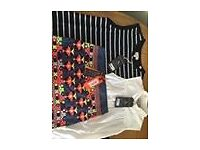2 Jack Wills tops and Superdry skirt, all BNWT, size 8 cost over £100