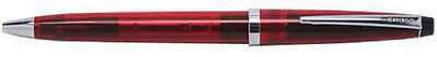 CROSS TRANSLUCENT RED  & SILVER ACCENTS  BALLPOINT PEN NEW
