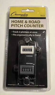 12-Pack Champion Home//Road Dual Baseball And Softball Pitch Tally Counter