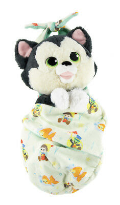 Disney Parks Baby Figaro In A Blanket Pouch Plush New with Tags