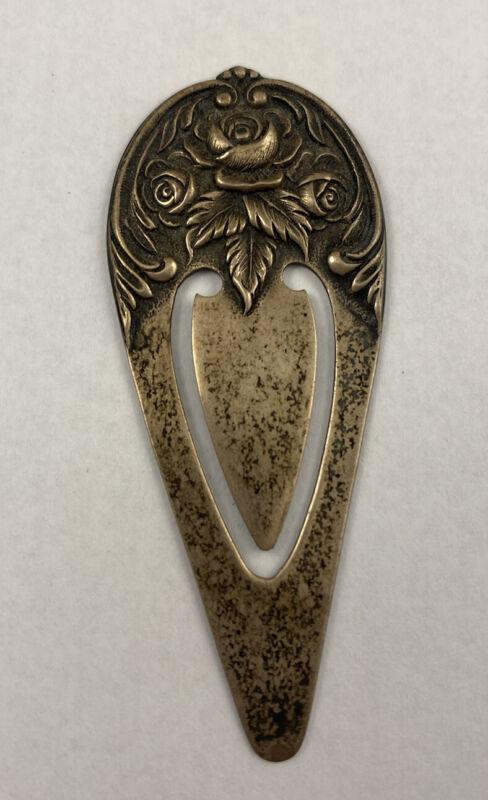 S Kirk & Son Roses Floral Design No Monogram Sterling Silver 925 #9 Bookmark