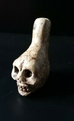 Death Whistle, Loud, Natural, Small, Real, Aztec, Maya, Original, Hand Crafted.