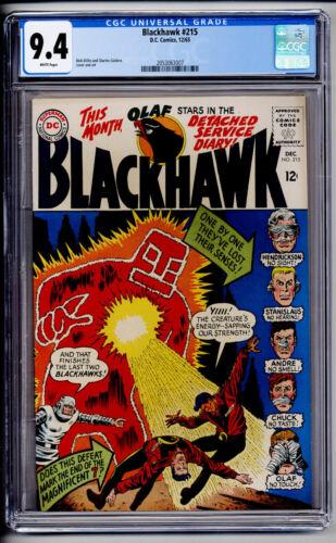 BLACKHAWK #215 CGC NM 9.4 1965 DC COMICS WHITE PAGES