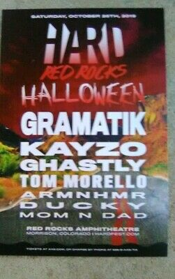 Hard Red Rocks Halloween-Gramatik   & deadmau5 Cube V3-2019 Promotional Flyer