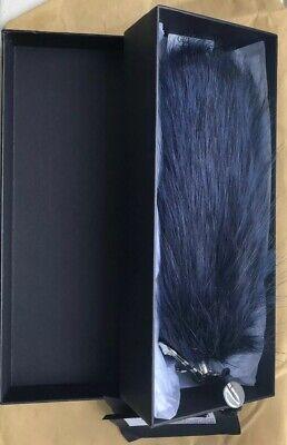 Versace Versus Cherry Faux Fur Fox Tail Bag Charm / Keyring