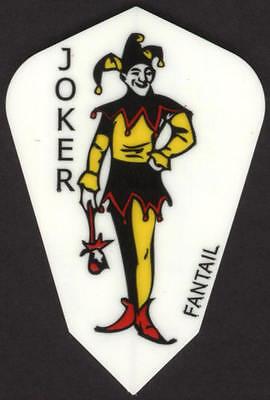 Joker Fantail Dart Flights  3 Per Set