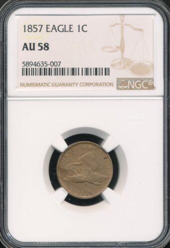 1857 Flying Eagle Cent NGC AU 58 *Nice!*