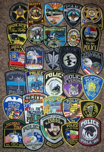 *CLEARANCE* Police - 30 Patch Set  #1 NO DUPLICATES IN SET (fire)
