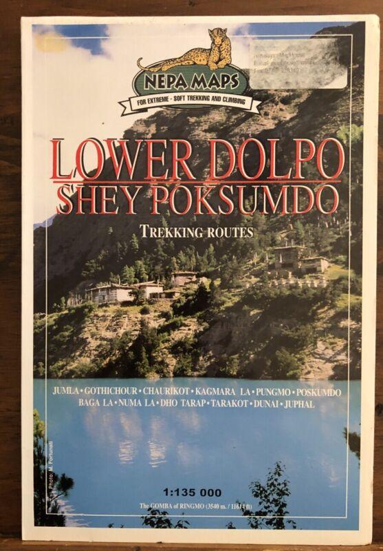 Lower Dolpo Shey Poksumdo Trekking Routes Travel Map Nepal Himalayas