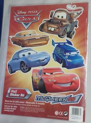 Disney cars wall stickers Lightning McQueen - Pixar A4 Sheet  FREE P&P