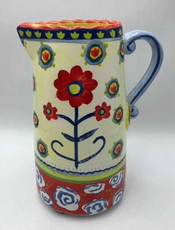 Kimberly Hodges + Cupcakes & Cartwheels Large Colorful Ceramic Pitcher