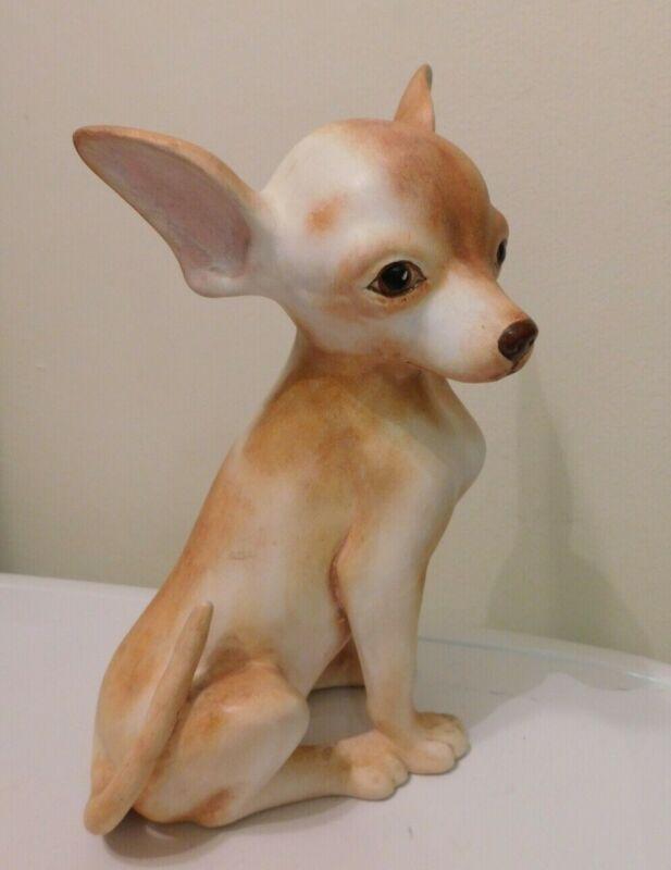 "Vintage LIFE SIZE Ceramic Apple Head Chihuahua 11.75"" tall"