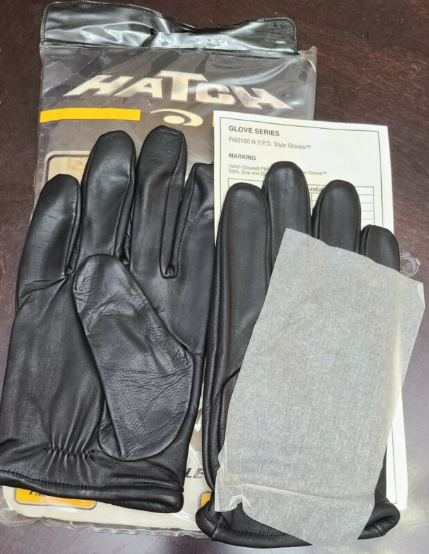 Leather Gloves Hatch FM2100 NYPD Syle Size Medium- New In Packaging