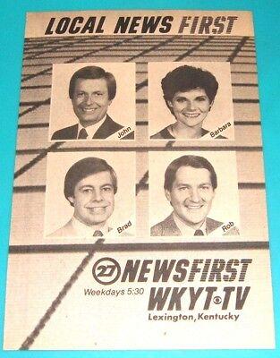 1986 Wkyt Kentucky News Ad Barbara Bailey Brad James Rob Bromley John Lindgren