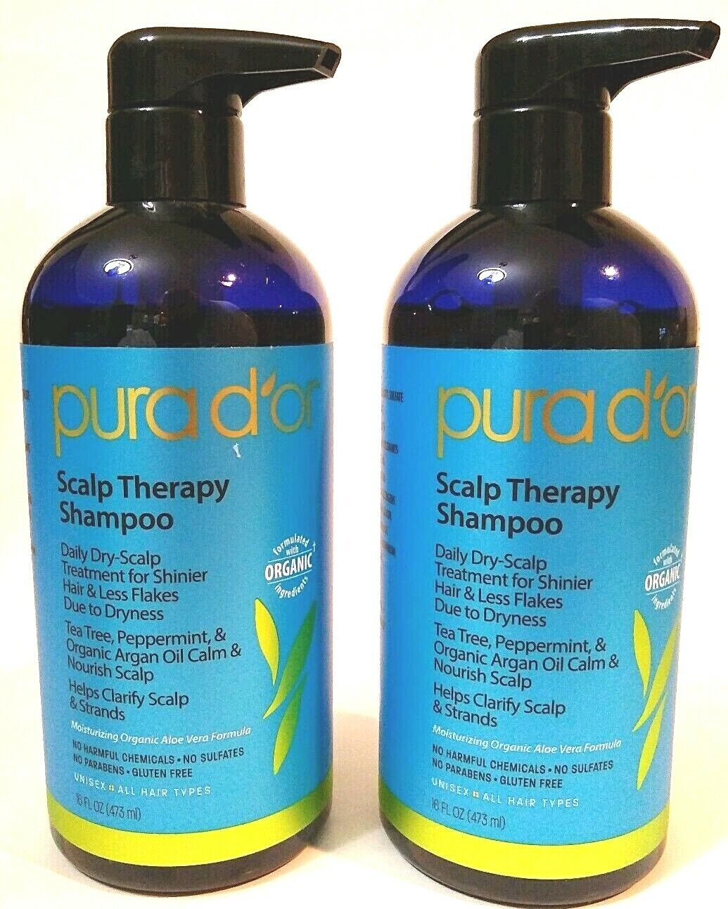 New PURA D'OR Scalp and Dandruff Therapy Shampoo & Condition