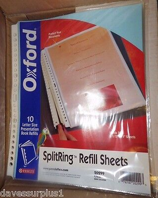200 Split Ring Top loading  8-1/2 x 11 Scrapbook Page Sheet Protectors Clear