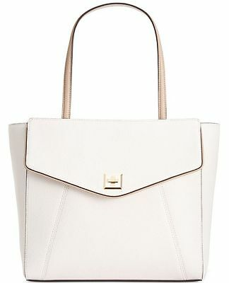 NWT Anne Klein Women's Timeless Choice Tote Bag White/Taupe Handbag $109