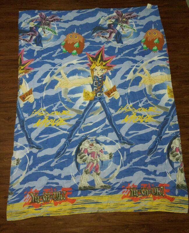 "Vintage Yu-Gi-Oh 1996 Kazuki Takahashi Comforter 80"" x 60"" Twin Sized Blanket"