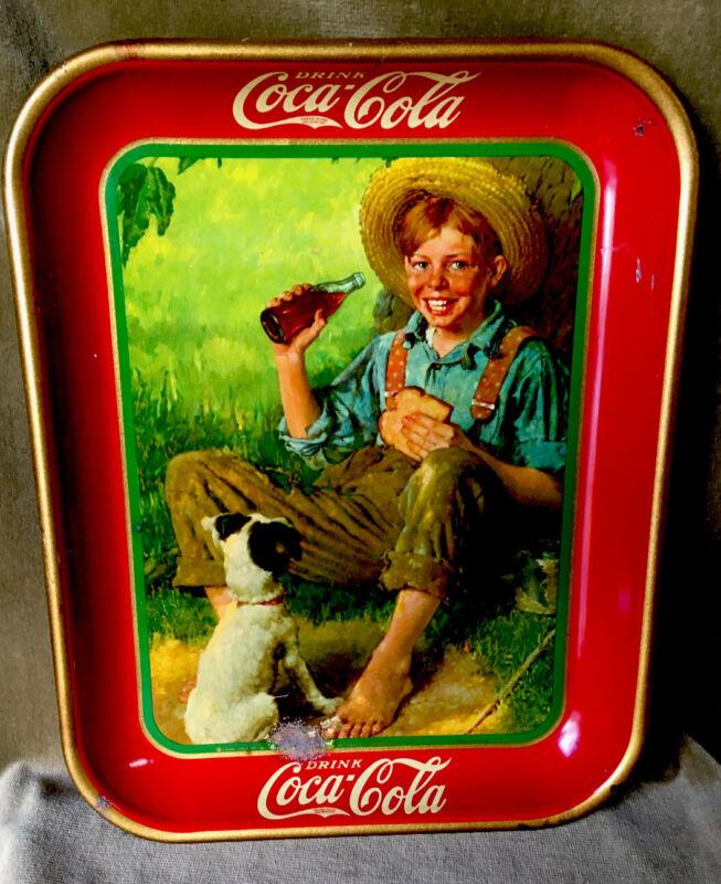 Vintage, Original, 1931 Coca-Cola Serving Tray, Excellent condition Shiny.