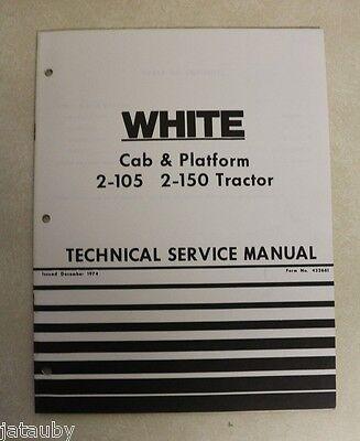 White Field Boss Tractors 2-45 2-62 Technical Service Manual