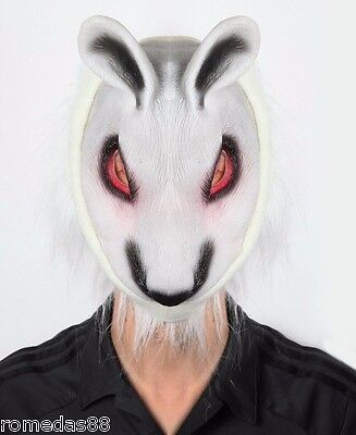 Funny Scary Halloween Costumes (White Fox Halloween Funny Scary Costume Party Mask)