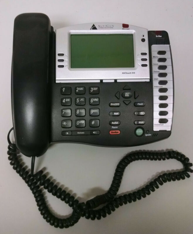 altigen AltiTouch 510 Black Business Telephone with Display, total of 10 phones