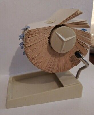 Vintage Rolodex Model 5p1x Rotary Business Card File With Storage