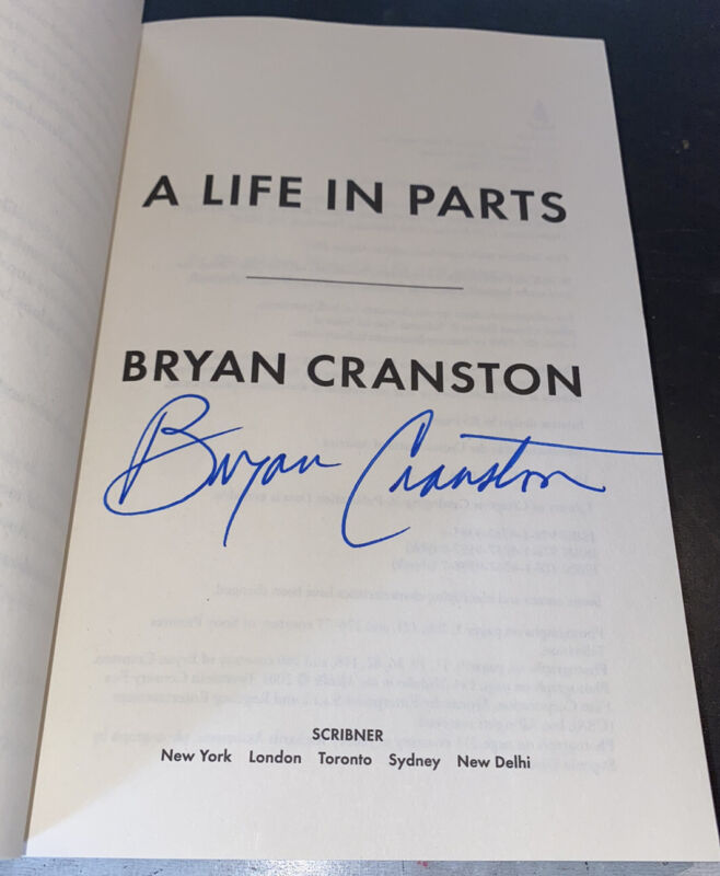 Bryan Cranston Signed Book A Life In Parts Paperback Breaking Bad
