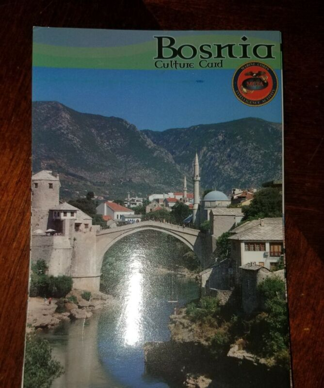 US Army USMC Bosnia Cultural Smart Card