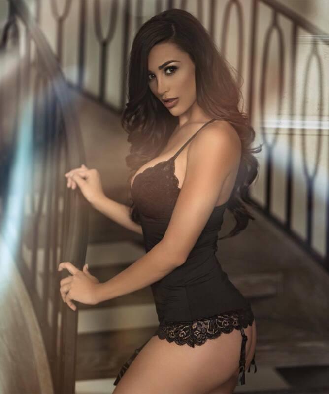 Ana Cheri Garcia Wiyh Black Lingerie 8x10 Photo Print
