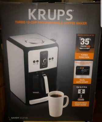 Krups 12 Cup Programmable Turbo Filter Coffee Maker Stainless Steel