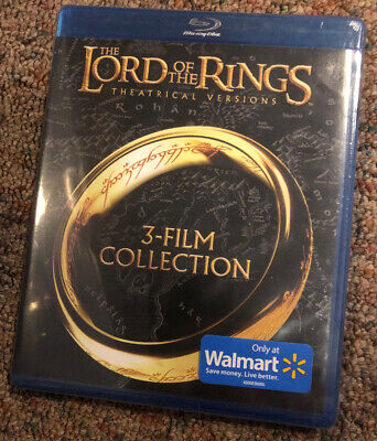 The Lord of the Rings Theatrical Versions Trilogy Blu-ray 2014 3-Disc NEW