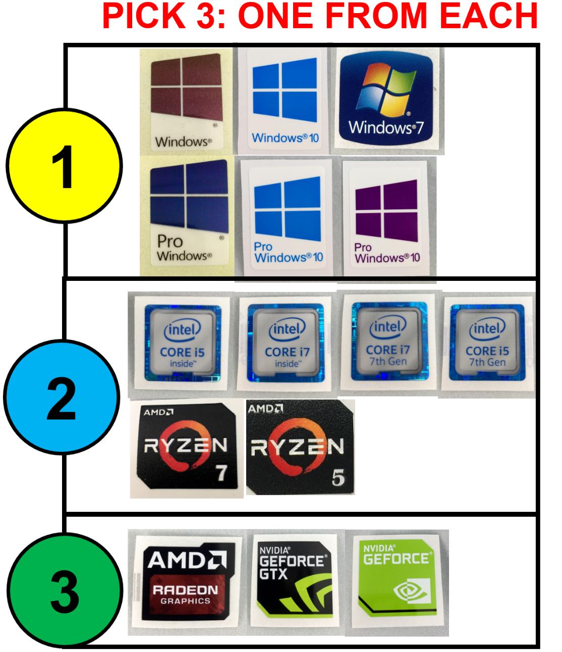 Intel Core I7 8th Gen Sticker Bahuma Logo I3 I5 Xeon Vpro Sandy Ivy Pc Laptop Blue Silver Black Source 3x Combo Windows 10 Pro 7th Amd Ryzen Nvidia
