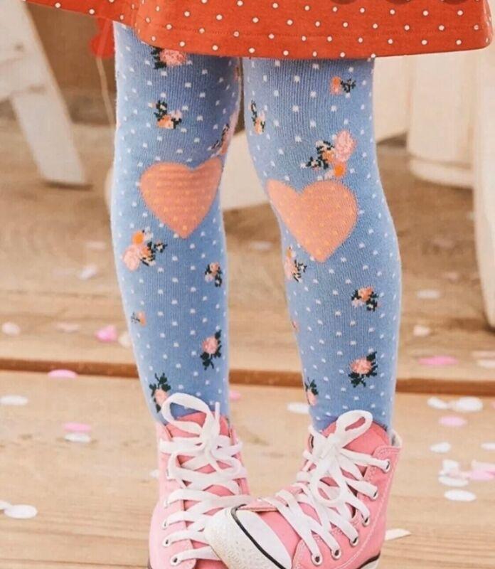 NEW girls Matilda Jane Brilliant Daydream Beating Heart Tights size 8-10 NWT