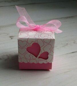 20 boites contenant dragees mariage bapteme coeur rose - Contenant Drages Mariage Coeur
