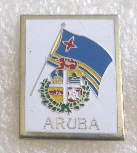 Island of Aruba Flag Tourist Travel Souvenir Collector Pin - Dutch Caribbean