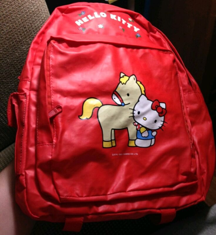 Vintage (1985)Hello Kitty & Horse Backpack SANRIO RARE 80