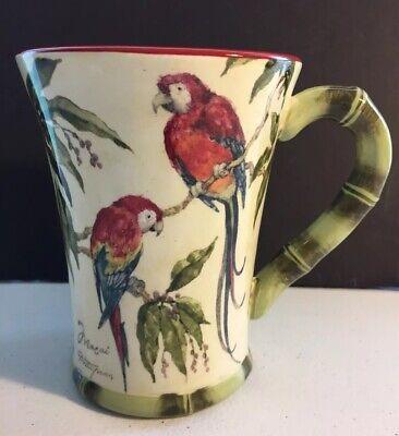 Betty Whiteaker Bahamas Parrot Pattern Large Mug Disc Certified International  - Parrot Large Mug