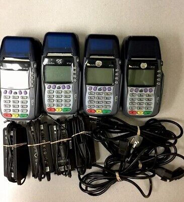 Lot Of 4 Verifone Vx570 Model Omni 5700 Credit Card Terminals4x Power Supply