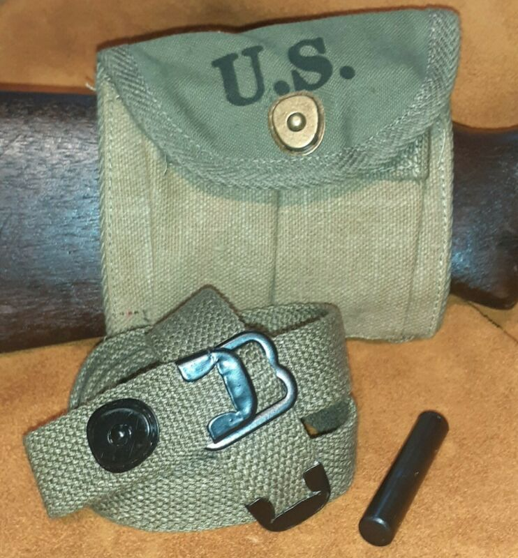 M1 Carbine magazine pouch with khaki sling