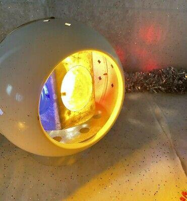 Vintage Steel Rotating 4 Color Wheel Light Aluminum Christmas Tree Orb Rainbo?