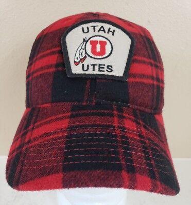 Utah Utes Cap Hat Snapback Legacy New Mesh Trucker Wool Blend Flannel Plaid Mesh Wool Cap