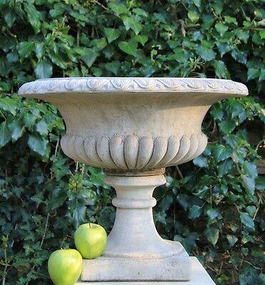 -- Schale Vase Sandstein Steinschale 32 kg 53 cm frostfest GRIMSBY Amphore Stein